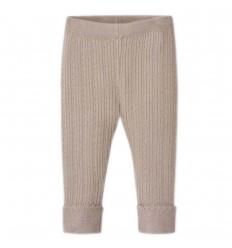 Leggings tejido para bebé niña- Topo camel