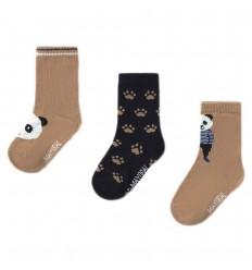 Set de 3 pares de medias niño-panda