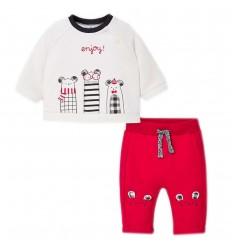 Conjunto 2 piezas para bebé- Velvet- Rojo
