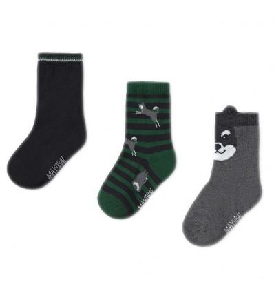 Set de 3 pares de medias para niño-oscuras