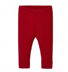 Leggings tejido para bebé niña- Carmin-rojo