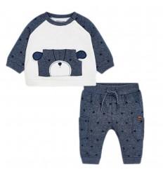Conjunto para bebé niño- Azul perrito