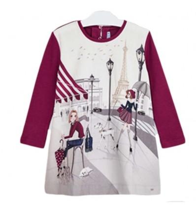 Vestido serigrafiado paris- Cereza