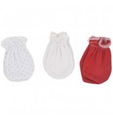 Set de 3 mitones para bebé recien nacido- Niño