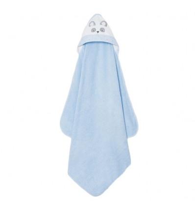 Toalla con capota mayoral- Oso Azul cielo