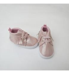 Bota rosado escarchado