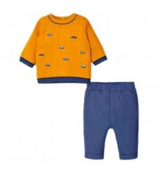 Conjunto 2 piezas para bebé niño-curcuma