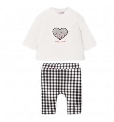 Conjunto dos piezas niña- Negro corazon