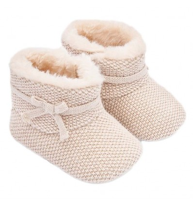 Bota para bebé en hilo Mayoral- Beige