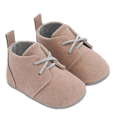 Zapato para bebé niño en gamuza- Beige