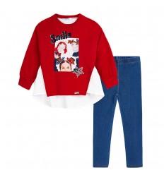 Conjunto 2 piezas para niña- Rojo azul-Titeres