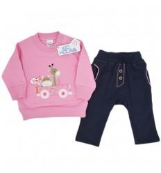 Conjunto dos piezas para bebé niña- rosa
