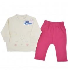 Conjunto dos piezas bebé niña-Osita
