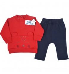 Conjunto dos piezaspara bebé niño- Rojo