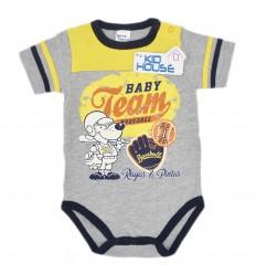 Body para bebé niño- estampado gris