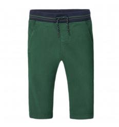 Pantalon en dril para bebé niño-Verde