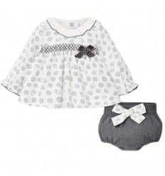 Conjunto 2 piezas para bebé niña- Gris