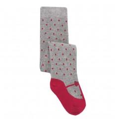 Media pantalon para niña- Gris rojo de pepas