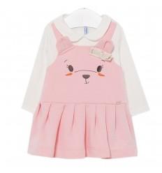 Vestido perrita bebé niña Rosa