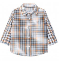 Camisa manga larga cuadros- Cheddar