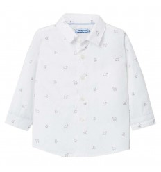 Camisa para niño estampada perritos-Blanco