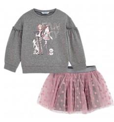 Conjunto para niña Mayoral- Gris rosa