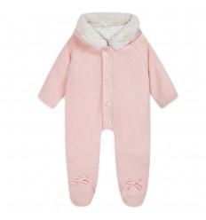 Enterizo en hilo para bebé- Rosa Baby