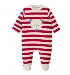 Pijama enteriza para bebé niño- Granate