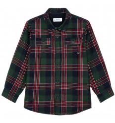 Camisa para niño cuadros mayoral-verde