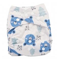 Pañal ecológico para bebé- Oso azul