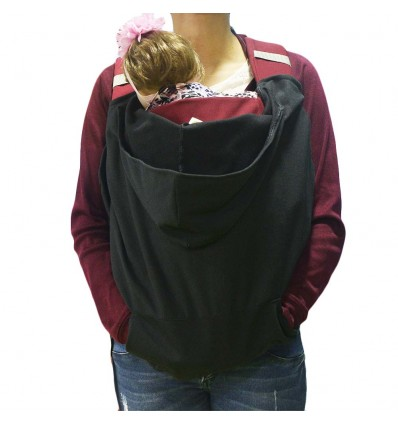 Cobertor de porteo con capota- Negro