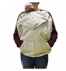 Cobertor de porteo con capota- Gris