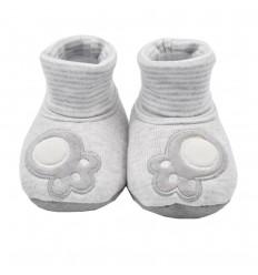 Babuchas en botica para bebé - Gris