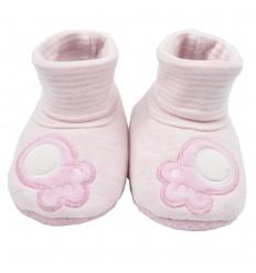 Babuchas en botica para bebé- Rosado