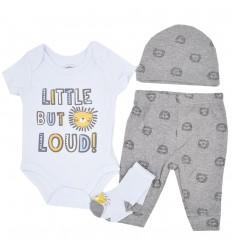 Conjunto 4 piezas para bebé niño- Leon