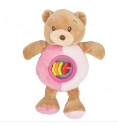 Sonajero diseño de oso- Rosado