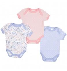 Set de 3 bodys para bebé niña mariposas