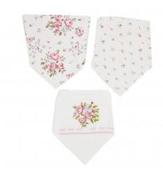 Set de 3 bandanas para bebé niña- Flores