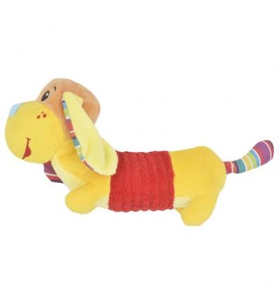 Sonajero de pito en peluche- Perrito amarillo