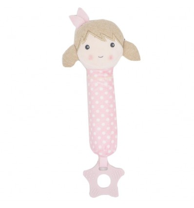 Sonajero de mano muñeca rosada