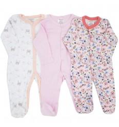 Set de 3 pijamas para bebé niña Curuba