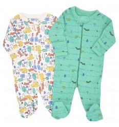 Set de 2 pijamas para bebé niño Animales