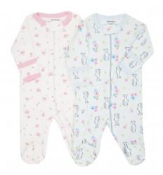 Set de 2 pijamas para bebé niña - Estampadas