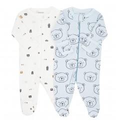 Set de 2 pijamas para bebé niño Ositos