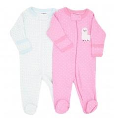 Set de 2 pijamas para bebé niña estampadas