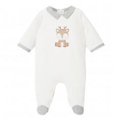 Pijama Velvetin enteriza para bebé - Blanco Renito
