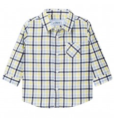 Camisa manga larga cuadros para bebé-Aove