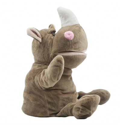 Títere en peluche- diseño de Rinoceronte