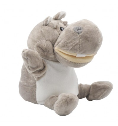 Títere en peluche- diseño de Hipopotamo