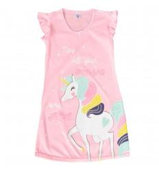 Pijama en Bata para niña - Rosada Unicornio
